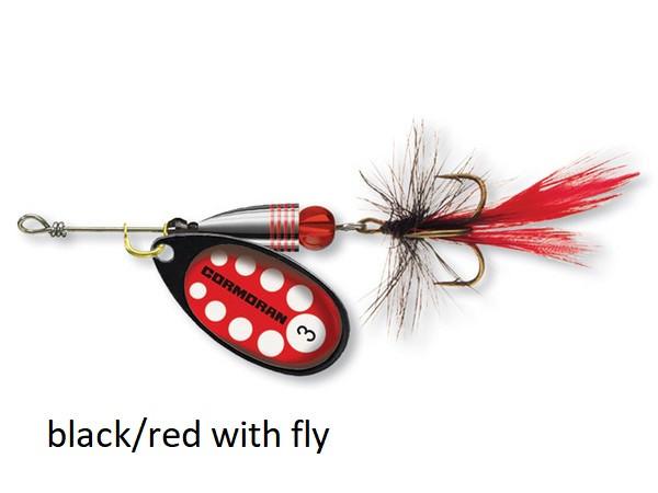 Spinner Cormoran Bullet Long Cast black/red fly št:1-4