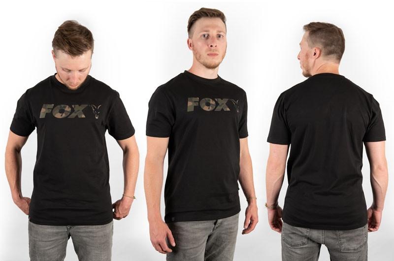 Majica Fox T-Shirt Camo Print Logo Black M-XXL