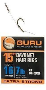 """Navezani trnki Guru Bayonet Hair Rigs 15"""" Št.:14"""