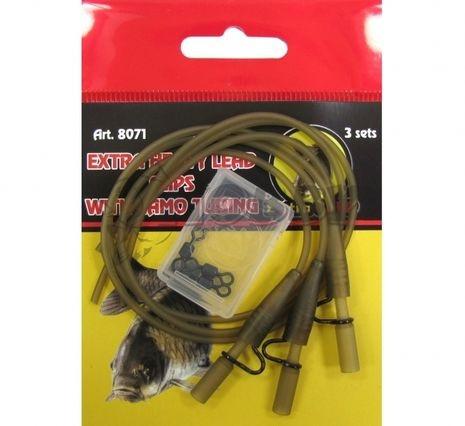 Heavy Lead Clips With Camo Tubing Extra Carp 8071