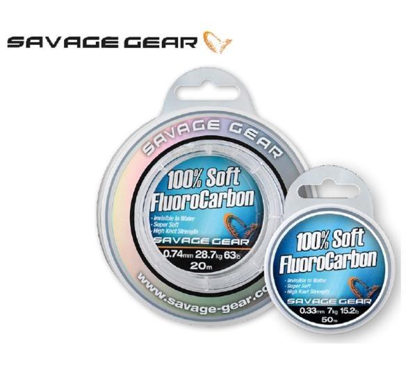 Najlon Savage Gear 100% Soft Fluorocarbon 0,22-0,39mm