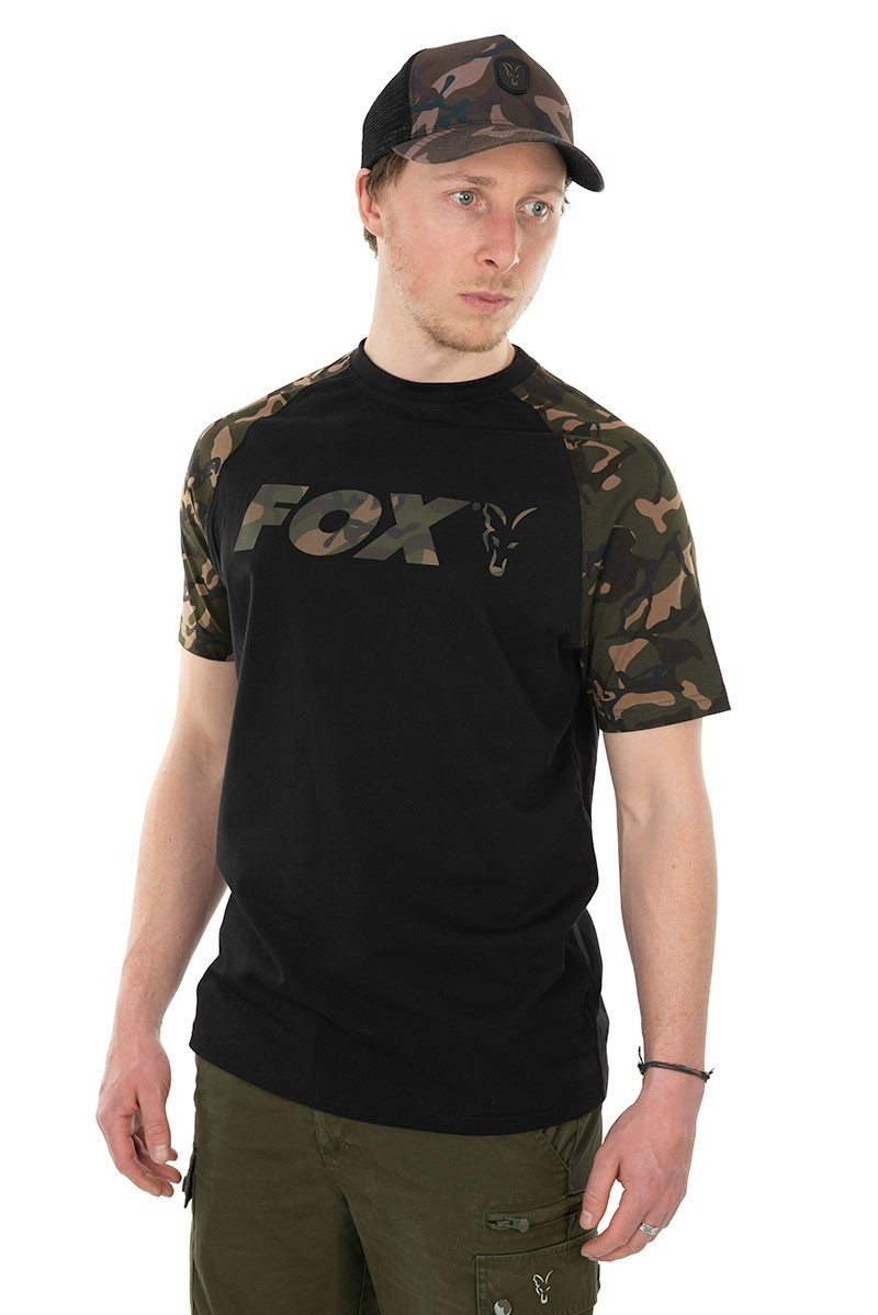 Majica Fox T-Shirt Raglan Black Camo M-XL