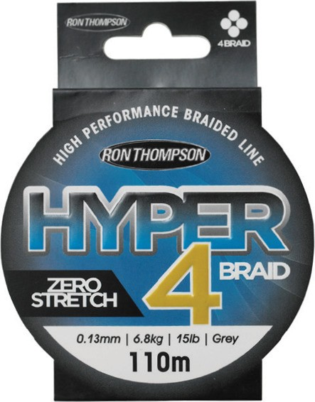 Pletena vrvica Ron Thompson Hyper 4-Braid 0,15-0,22m