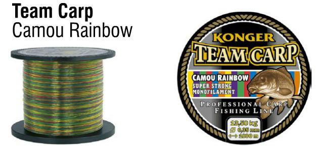 Najlon Konger Team Carp Camu Rainbow 0,30-0,35mm 1000m