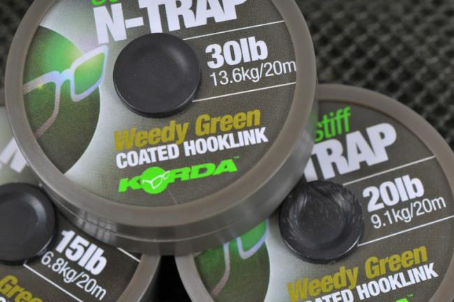 Vrvica Korda N-Trap Semi-Stiff 30LB 20m- weedy green