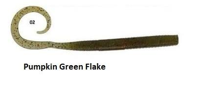 """Vaba Gunki C'eel Worm 3,9"""" 10cm- Pumpkin Green Flake"""