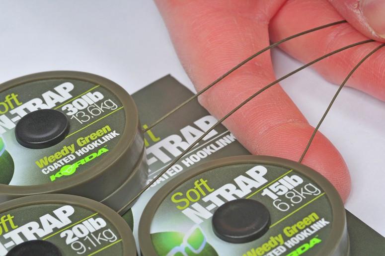 Vrvica Korda N-Trap Soft 30LB 20m- weedy green