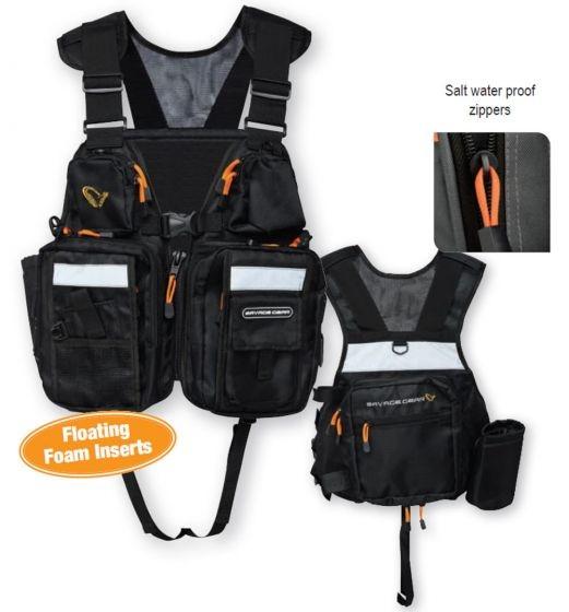 Nahrbtnik Savage Gear Hitch Hiker Fishing Vest Black