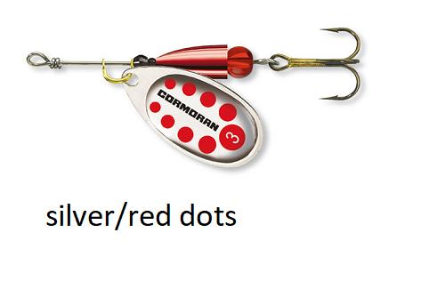Spinner Cormoran Bullet Long Cast silver/red dots št:1-4